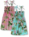 Orchid Plumeria Garden Girls cotton sun dress