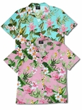 Orchid Plumeria Women's Camp Shirt