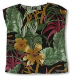 Oriental Watercolor Womens Pullover Blouse