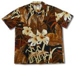CLOSEOUT Oriental Watercolor Men's Rayon Shirt