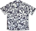 Ornate Hibiscus Men's Vintage Robert J. Clancey (RJC) Hawaiian Aloha Shirt