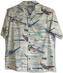 Out of the Blue Aviation men's aloha shirt