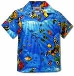 Marine Aquarium Fish Boy's Shirt