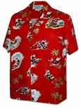 Mens Pacific Legend Christmas Holiday Aloha Shirt