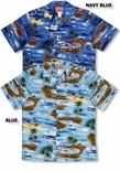 5X Pacific Ocean Island Defenders men's airplane Shirt