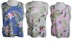 Pacific Orchid Pull-Over Tank Top Blouse