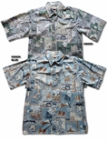 Pacifica Businessmen's Aloha Shirt with Placket