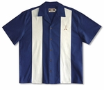 Canoe Paddles Embroidered Bowling Shirt