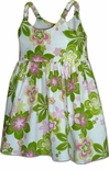 Paisley Plumeria Girls Bungee Strap Dress