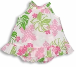 Pale Hawaiian Flower Girl's Halter 2pc Set
