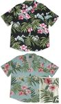 Pale Hibiscus Orchid Long Camp Shirt