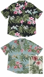 Pale Hibiscus Orchid Long Camp Shirt large plus sizes