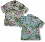 Pale Hibiscus Orchid Womens Shirt