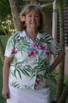 Pale Hibiscus Orchid Womens Fitted Blouse