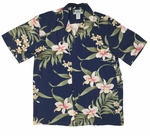 Pali Orchid men's Hawaiian shirt