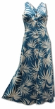 Fan Palm button front Long Hawaiian clothing dress