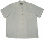 Palm Shadow men's wedding white aloha shirt