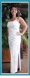 Palm Trees Women's Wedding White Long Sun dress