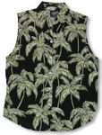 Palm Trees Womens Sleeveless Blouse
