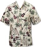 Palm Ukulele Men's Placket Reverse Shirt