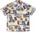 Pan American Hawaii Express Aloha Hula Cotton Shirt