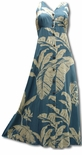 Paradise Banana long Hawaiian dress button front style