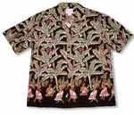 Paradise Found Banana Hula Girl Aloha Shirt