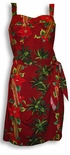 Paradise Found Christmas Hawaiian Sarong Dress
