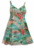 Paradise Found Florida Hawaiian Aloha Sun Dress