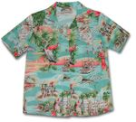 Paradise Found Florida Women's Hawaiian Aloha Shirt