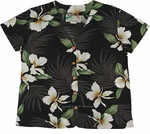 Paradise Found Ginger Palm Hawaiian Aloha Blouse