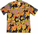 Paradise Found Grape Vines Hawaiian Aloha Shirt