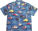 Paradise Found Hot Rods Men's Hawaiian Aloha Shirt