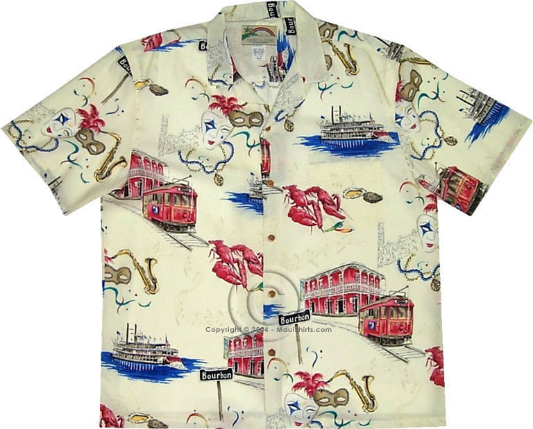 d31d0402 Paradise Found Mardi Gras Men's Hawaiian Aloha Shirt - Original Print