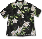 Paradise Found Orchid & Fern Women's Hawaiian Aloha Shirt