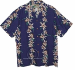 Paradise Found Orchid Panel - Original Print Men's Hawaiian Aloha Shirt