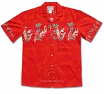 Paradise Found Santa's Helpers Men's Hawaiian Aloha Shirt