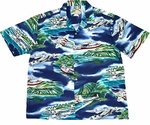Paradise Found Seaplanes Hawaiian Aloha Shirt