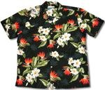 Paradise Hibiscus Waimea Casuals Mens Cotton Aloha Shirt