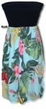 Paradise Incredible Tropical Display Knit top strapless dress