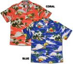 Paradise Island Sailboats Men's Hawaiian Aloha Shirt
