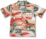 Paradise Island Surf boys shirt a matching family outfit design