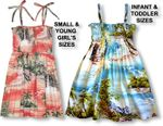 Paradise Island Surf Girls Hawaiian made aloha style sun dress
