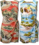 Paradise Island Surf Sarong dress