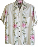 4X Paradise Lei Men's made in Hawaii Rayon Shirt