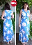 Paradise Orchid Corsage Button Front Long Tank Dress