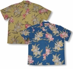 Paradise Orchid Corsage men's discounted Hawaiian shirt