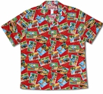 Paradise Postcards men's cotton hawaiian shirt