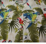 Parrot Leaves Hawaiian Blouse