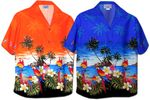 Parrots in Paradise Island Women's Camp Shirt